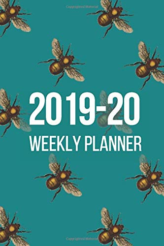 Life Organizer and Family Planner - Academic Diary Aug 2019 to July 2020: Week To Page View with Meal Planner and To Do list on each page - BEE design por Glitter Design Year Planners