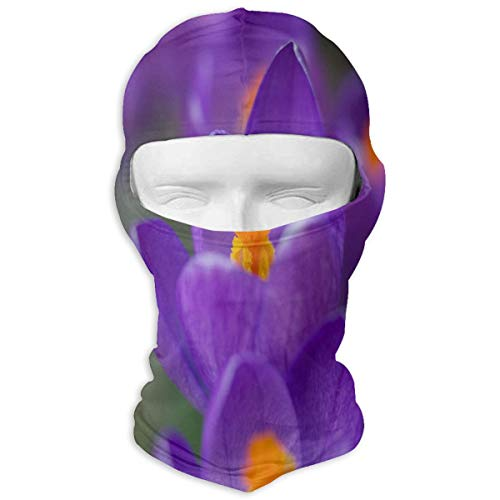 YIXKC Balaclava Spring Purple Flowers Unique Full Face Masks UV Protection for Adults -