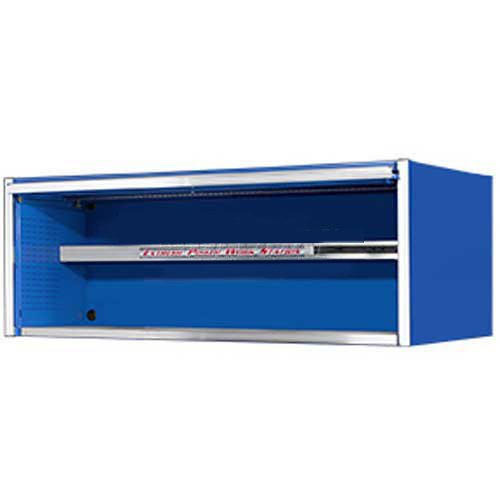 - Extreme Tools EX7201HCBL Fully-Assembled Extreme Power Workstation Hutch with Roller Bearing Slides, 72-Inch, Blue High Gloss Powder Coat