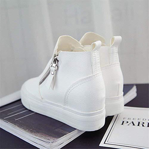 39 Casual Boots Double Stivali Scarpe Pu Ladies Eu Zipper Spesso Fondo Deed vqA5H