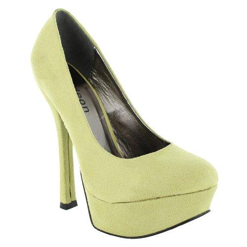 Footwear Sensation - Sandalias de vestir de sintético para mujer verde - Lime Suede
