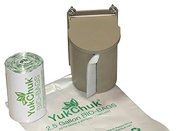 YukChuk Cocina Alimentos Kit de recogida de residuos; 25 x 2 œ l maletero bolsa Roll y dispensador de rollo de bolsa.: Amazon.es: Jardín