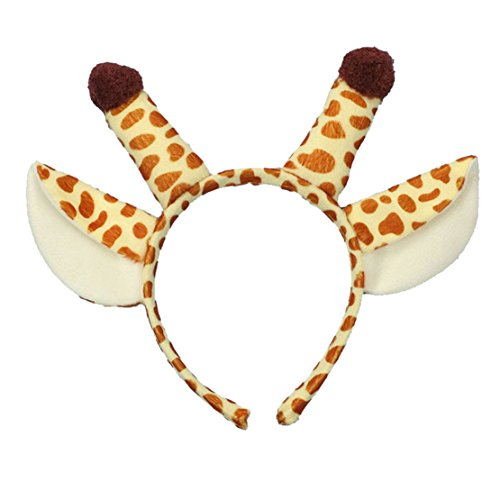 Lucky God Giraffe Ears and Horns Headband Costume Hat for Party Dress (Yellow) (Giraffe Yellow)