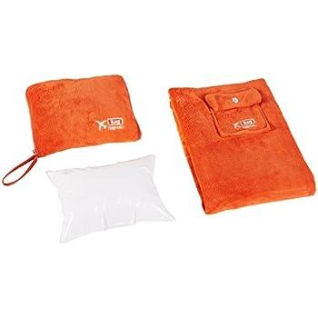 Lug Nap Sac Blanket and Pillow, Sunset Orange