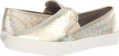 (SPERRY Women's Seaside Emboss Weave Sneaker Platinum 7.5 M US)