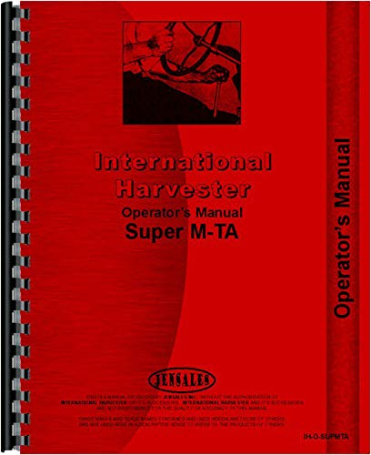 - Farmall Super MTA Tractor Operators Manual