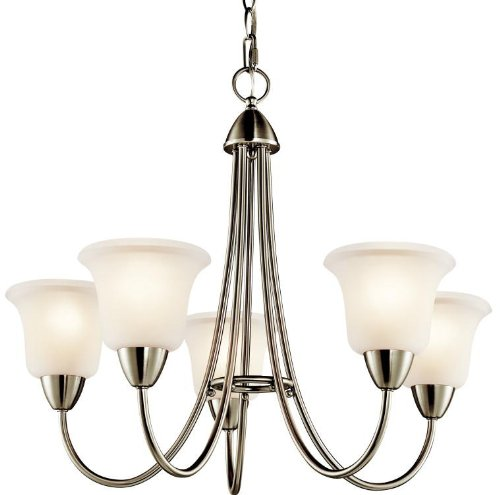 Kichler 42884NI Nicholson Chandelier 5-Light, Brushed Nickel - Nickel Floor Kichler Lamp Lighting