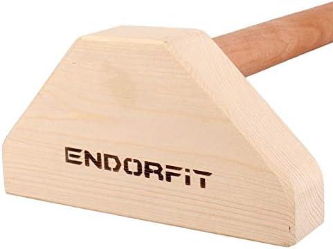 Gymnastik ED-D004 Endorfit Parallettes Minibarren aus Holz f/ür Krafttraining