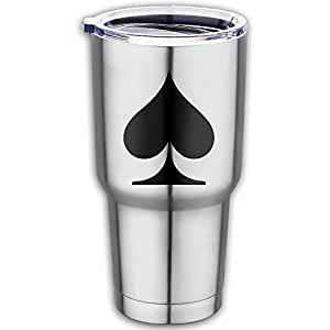 Ace Of Spades Stainless Steel Vacuum Insulated Tumbler Coffee Mug With 1 Lid Leak Proof Car Cups 19oz