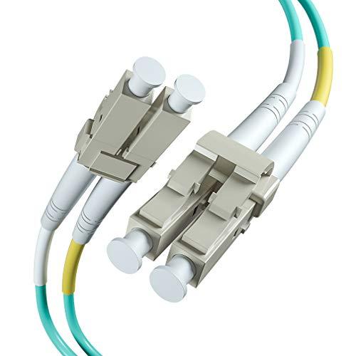 (Fiber Patch Cable - LC to LC OM3 10Gb/Gigabit Multi-Mode Duplex 50/125 LSZH Fiber Optic Cord for SFP Transceiver, Computer Fiber Networks and Fiber Test Equipment, 1-Meter(3.3ft))