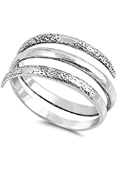 Open Spiral Thumb Unique Ring New .925 Sterling Silver Band Sizes 5-10