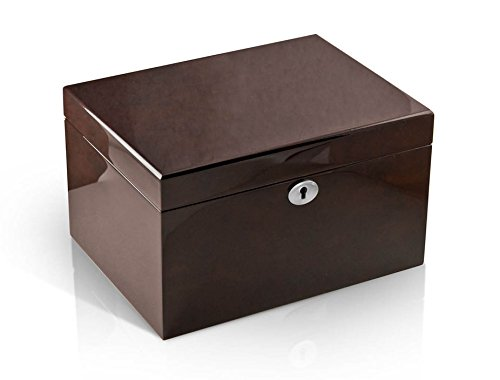 Modern Hi Gloss Coffee Tone 18 Note Music Jewelry Box - .0 Holy Night by MusicBoxAttic