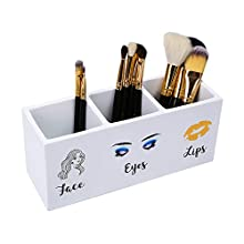 Makeup Brush Holder, 3 Slot Cosmetics Brushes Storage Organizer for Women
