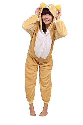 Amour-Sleepsuit Pyjamas Kostüm Cosplay Homeware Lounge Größe passt S/M/L/XL (l, Rilakkuma)