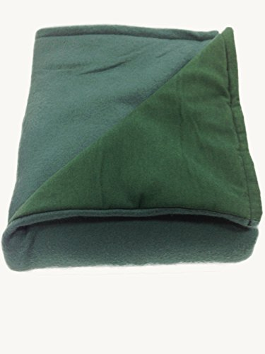 Sensory Goods - THE ONLY APPROVED MANUFACTURER AND SELLER - Large Weighted Blanket - Forest Green - Flannel/Fleece (42'' x 72'') (15 lb for 140 lb individual)