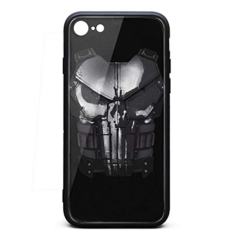 (Punisher-Vest-Pattern- Phone Case for iPhone 6/6S Protective TPU Rubber Shockproof Anti-Scratch Fashionable Glossy Anti Slip Thin Case)