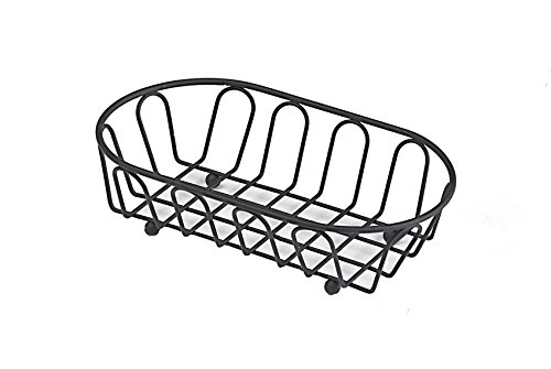 G.E.T. Enterprises Black Oblong Metal Wire Basket Iron Powder Coated Specialty Servingware Collection 4-33454 (Pack of 1)