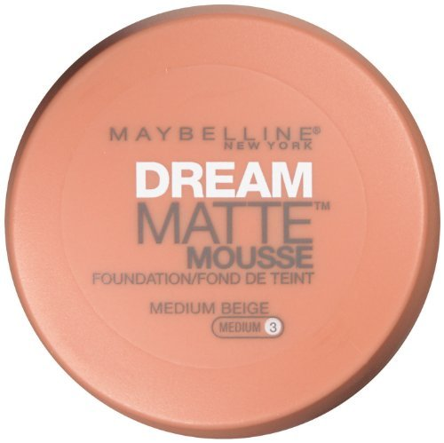 Maybelline Dream Matte Mousse Foundation, Medium Beige [3], 0.64 oz (Pack of 2)