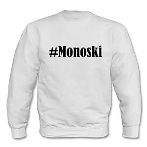 Sweatshirt Damen#MonoskiGröße2XLFarbeWeissDruckSchwarz