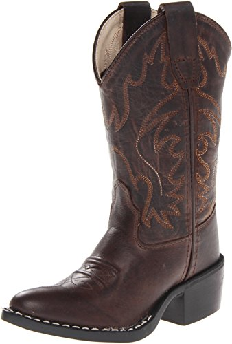 Old West Kids Boots Unisex J Toe Western Boot (Toddler/Little Kid) Brown Canyon 9.5 M US - Traditional Cowboy Brown Boots