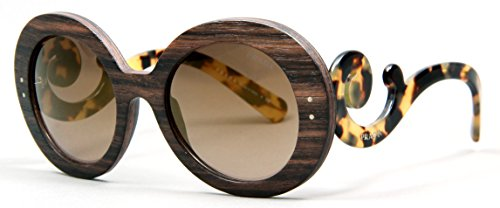 Prada Womens Sunglasses (PR 27R) Brown/Grey Wood - Non-Polarized - - Prada Price Glasses