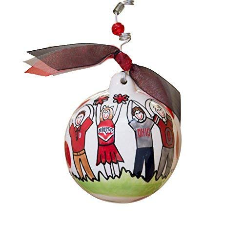 Glory Haus Ohio State Ball Ornament, 4-Inch (State Ornament Holiday Ohio)
