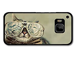 Funny Fat Cat With Glasses case for HTC One M9
