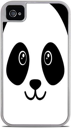 Cooliphone4Cases.com-2842-Panda Bear Face Cute White 2-in-1 Protective Case with Silicone Insert for Apple iPhone 4 / 4S by Moonlight Printing-B01KW8BI7S-T Shirt Design