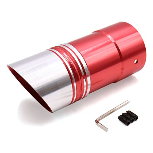 Aluminum Oval Mufflers (uxcell Universal Oval Outlet Fuchsia Car Exhaust Tail Muffler Tip Pipe fit Dia 2.3inches)