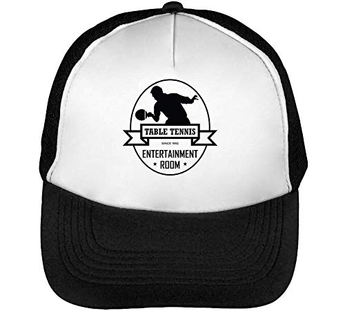 Gorras Badge Hombre Blanco Tennis Table Negro Room Snapback Beisbol Entertainment Sport q7RXdwX