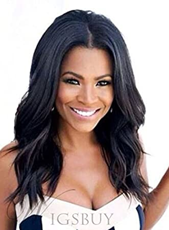 Amazon Com 100 Real Hair Nia Long Loose Wave Middle Parting