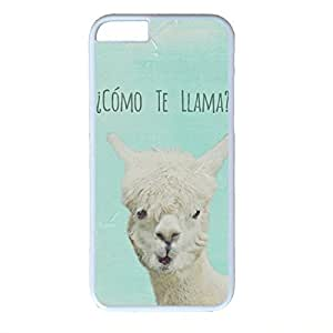 Hard Back Cover Case for iphone 6 Plus,Cool Fashion White PC Shell Skin for iphone 6 plus with Lama