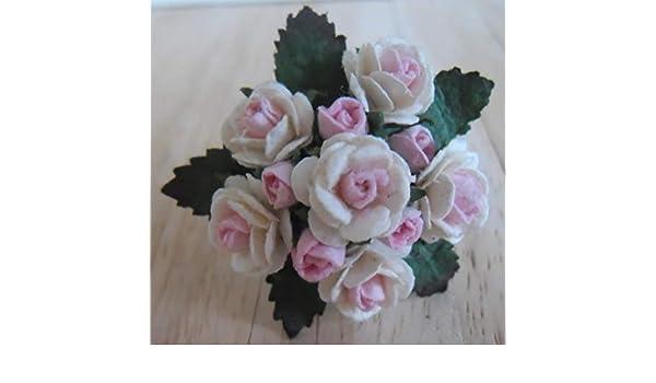 1/12 escala muñecas casa hecha a mano victoriano Rosa rosas ...