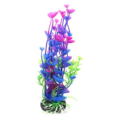 Usina gua DealMux plstico Aquarium Fish Tank Decor Acessrios Artificial Grama Verde Roxo