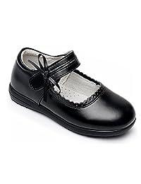 KVbaby Girl's Mary Jane School Uniform Shoes Adjustable Strap Ballerina Flat Dress Shoes (Toddler/Little Kid/Big Kid)