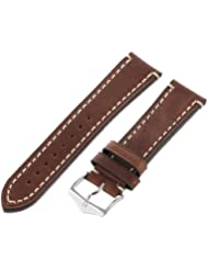 Hirsch 20mm Leather Watch Strap, Color:Brown (Model: 109002-10-20)