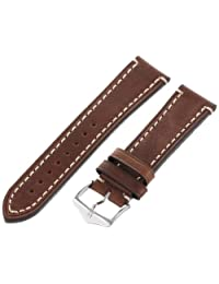 Hirsch Liberty One Piece Brown Calf Leather Watch Strap 109002-10-22