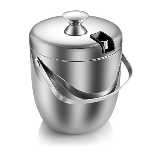 FC Double Wall Ice Bucket with Tong 3 Litre/0.8 Gal Stainless Steel