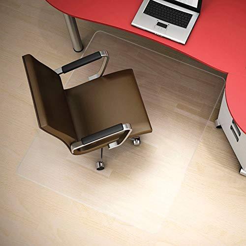 Deflecto Polycarbonate Hardfloor EconoMat Clear Chair Mat, Hard Floor Use, Rectangle, Straight Edge, 45