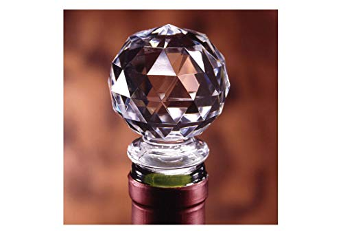 (Dependable Products Acrylic Wine Bottle Stopper Crystal Clear with Airtight Silicone Seal Gift Packaging)
