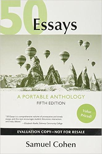 50 essays a portable anthology evaluation copy 9781319044305