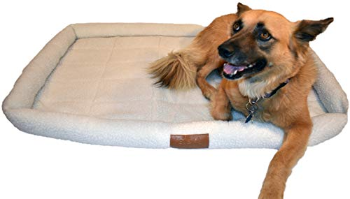 PETS GO2 Padded Pet Bolster Dog Bed for Crate Kennel or Floor - Large Dogs - 43 x 30 inches