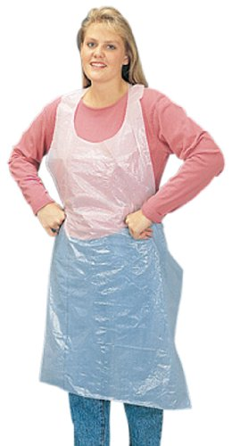 Liberty 2845 Polyethylene Disposable Embossed Apron, Individually Packed, 28'' Width x 46'' Length, White (Case of 1000)