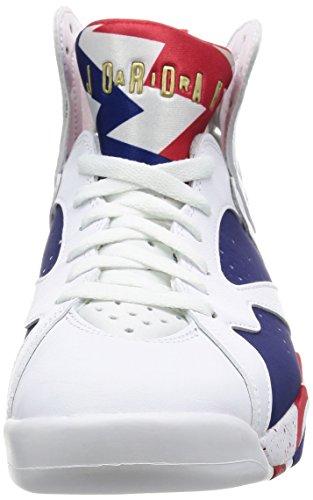 7 Scarpe mtlc Retro white Coin Air Gold Blanco Uomo deep Blue Nike Jordan Basket Royal Da qxvEt4wIw1