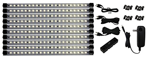 Pro Series 21 LED Super Deluxe Kit Under Cabinet Lighting, Warm White - Dimmer Switch Option Available (See Items #4863 and #4844)