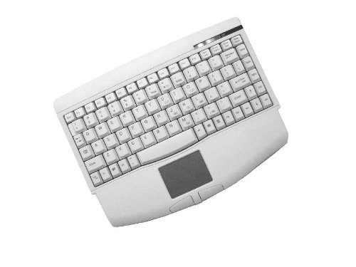 ADESSO ACK-540PW Keyboard 88 Touchpad Cable PS/2 White High-End Graphics & Pixel-Point Control