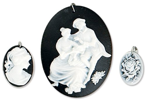 Blue Moon Resin Beads - Blue Moon Lost & Found Pendants, Resin Cameo Assorted ll Couple, 3/Pkg