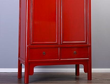 Chinesischer Schrank Hochzeitsschrank rot Kleiderschrank ...