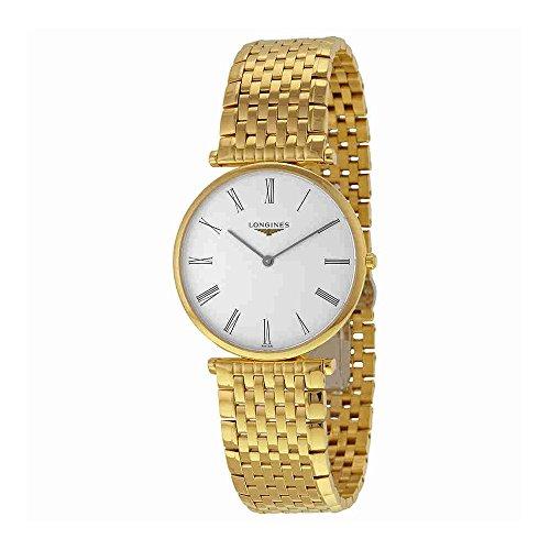 Longines Analog Wrist Watch - Longines La Grande Classique Quartz White Dial Gold-tone Case Mens Watch L4.755.2.11.8