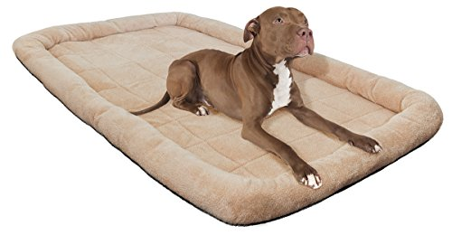Paws-Pals-Pet-Bed-with-Cozy-Inner-Cushion-48-Inch-XXXXL-Beige-Brown-Tan